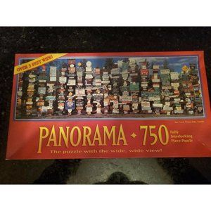 Panorama 750 Piece Puzzle Sign Forest Watson Lake